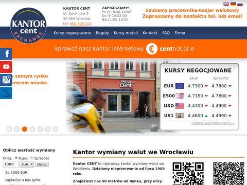 Kantor Cent tani kantor Wrocław