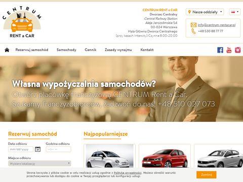 Centrum-rentacar.pl wynajem samochodów Warszawa