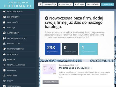 Celfirma.pl - baza przedsiębiorców