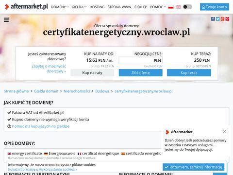 Certyfikatenergetyczny.wroclaw.pl