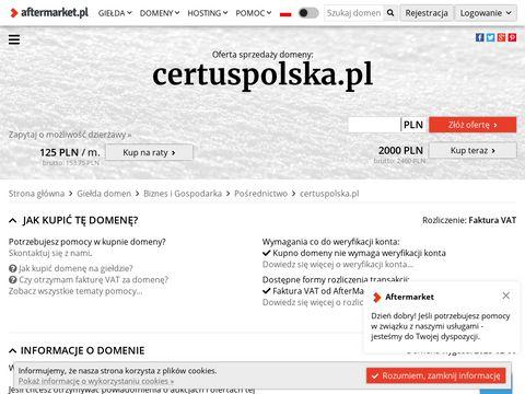 Certuspolska.pl