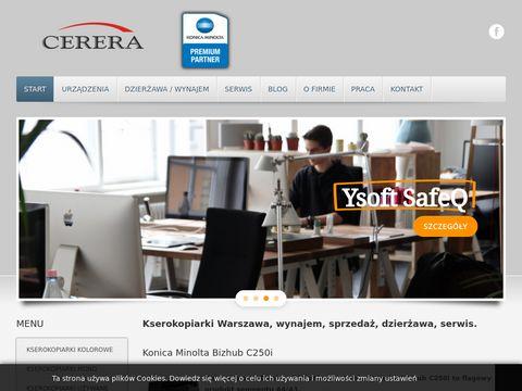 Cerera.pl wynajem kserokopiarek