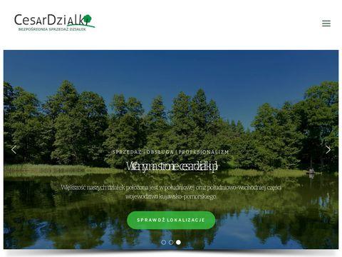 CesarDzialki.pl - oferta działek nad jeziorem