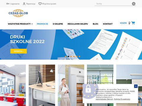 Cezasglob.pl wyposażenie szkół w meble szkolne