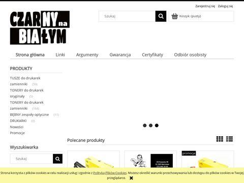 Czarny na Białym Tonery Puławska Warszawa