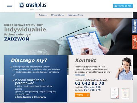 Crash Plus - odszkodowania z OC sprawcy