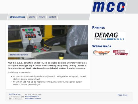 MCC Sp. z o.o. modernizacja suwnic