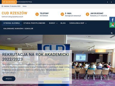 Cud.rzeszow.pl szkolenia bhp dla firm