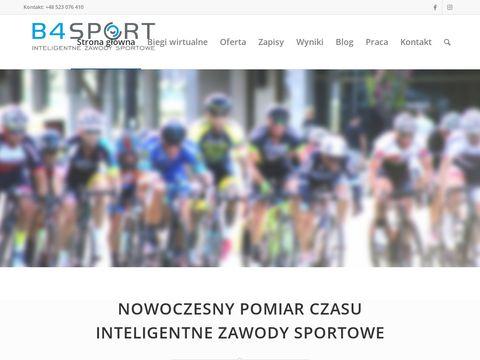 B4Sport - pomiar czasu na zawodach