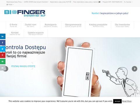 Biofinger.pl rejestracja czasu pracy