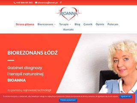 Bioanna.com.pl gabinet diagnozy terapii naturalnej