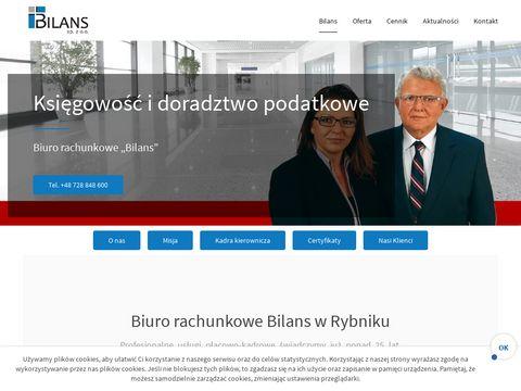 Bilans Rybnik biuro rachunkowe Rydułtowy