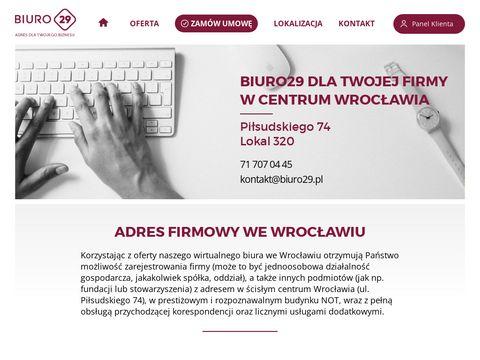 Biuro29-wroclaw.pl - wirtualne