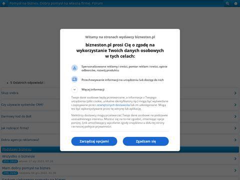 Bizneston.pl forum finansowe