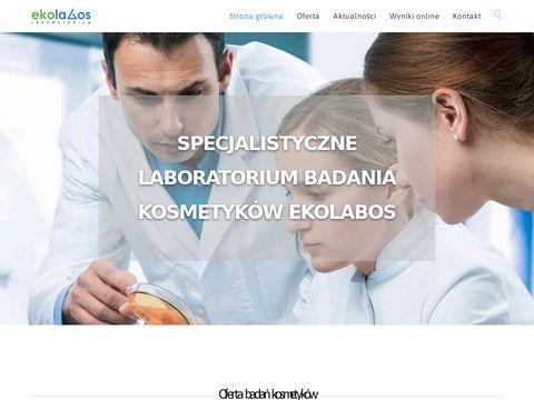 Ekolabos - badanie kosmetyków