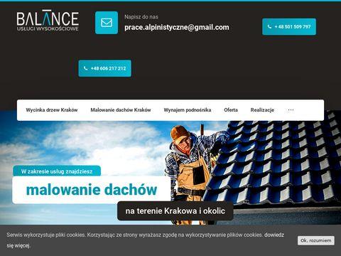 Balance.net.pl malowanie dachów Kraków