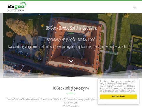 Bsgeo.pl podziały nieruchomości Krzeszowice