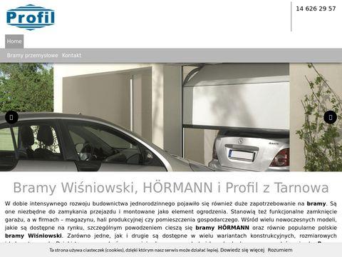 Profil s.c. bramy rolowane Tarnów