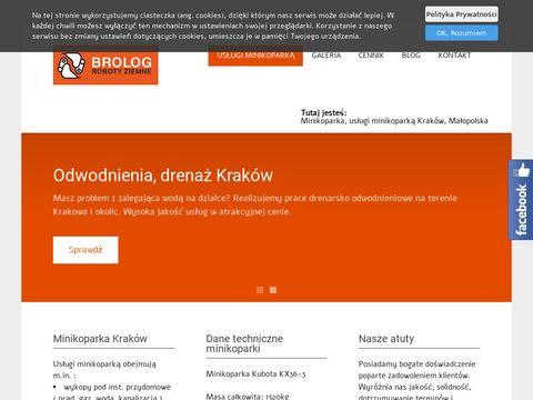 Brolog-minikoparka.pl usługi Kraków