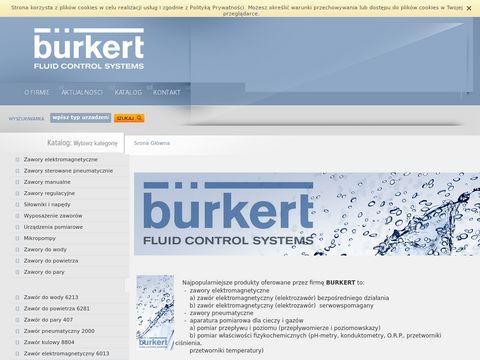 Zawór elektromagnetyczny, elektrozawory - Burkert