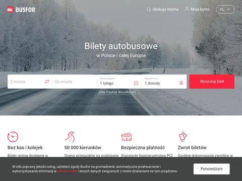 Busfor.pl przejazdy autobusowe