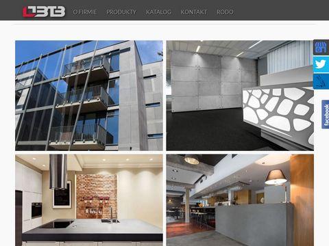 BTB elewacje płyty betonowe