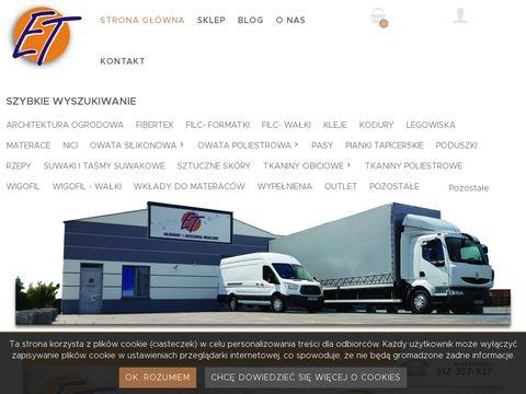 E-t.com.pl włókniny techhniczne