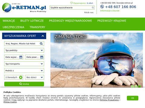 E-retman.pl biuro podróży - Portal turystyczny