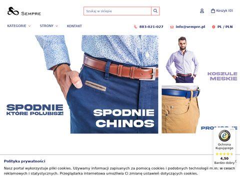 E-spodnie.pl chinosy męskie