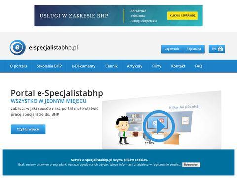 E-specjalistabhp.pl z zakresu bhp