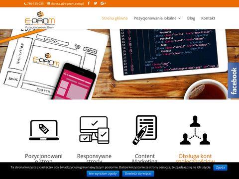 E-prom-nowysacz.pl pozycjonowanie stron