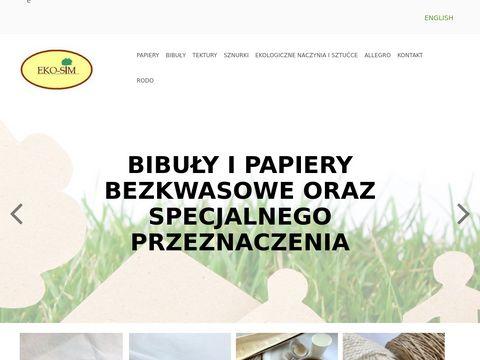 Eko-Sim - tani papier bezkwasowy