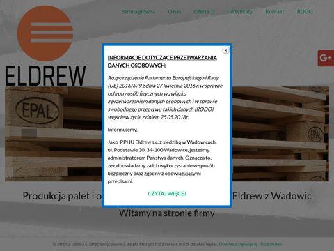 Eldrewpalety.pl produkcja opakowań drewnianych