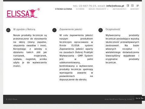 Elissa.pl - Wytwarzanie Artykułów Kosmetycznych
