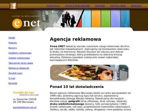 Enet.net.pl agencja reklamowa Warszawa
