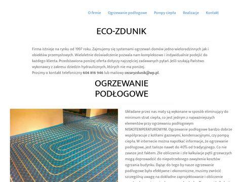 Eco-zdunik.pl Ogrzewanie podłogowe