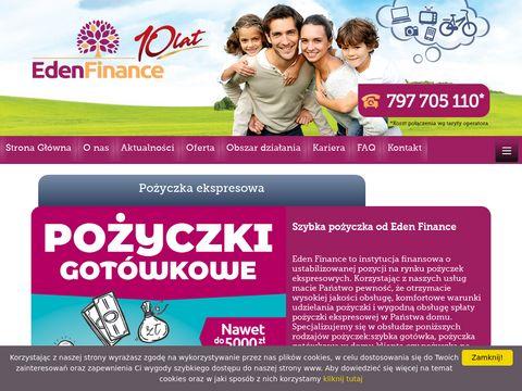 EdenFinance.pl - pożyczka ekspresowa