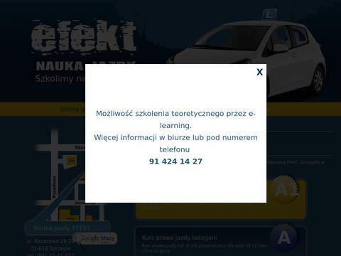 Efekt Szczecin Nauka jazdy na automacie