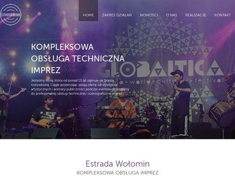 Estradawolomin.pl obsługa imprez