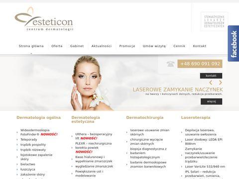 Esteticon.pl - botoks Szczecin, depilacja laserowa