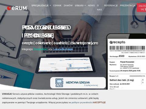Erum.pl program do przychodni lekarskiej