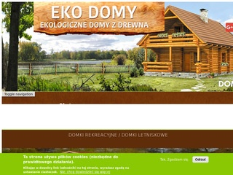 Domyzdrewna-ekodomy.pl domki rekreacyjne
