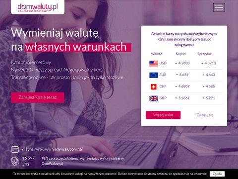 Domwaluty.pl kantor internetowy