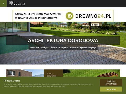 Dombal - Warszawa - drewniane tarasy