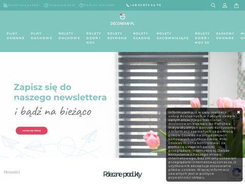Decoman.pl rolety materiałowe