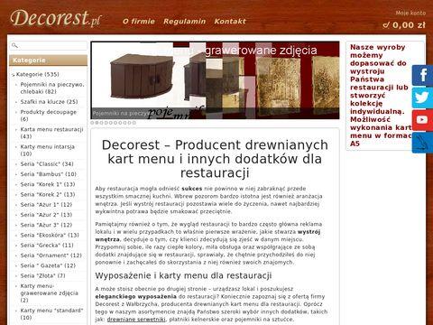 Decorest.pl omo potykacze drewniane