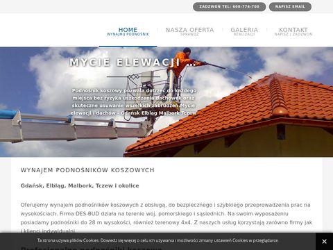 Desbud.com wynajem podnośników Gdańsk