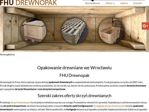 Drewnopak.eu skrzynie fumigowane Wrocław