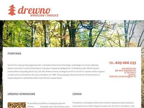 Sprzedaż drewna opałowego, Malerzów k/Wrocławia