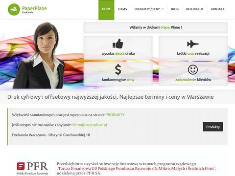 Paperplane sp. z o.o. drukarnia cyfrowa Warszawa